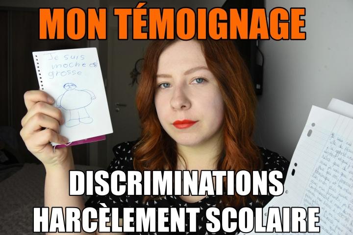 Discriminations, Harcèlement Scolaire : Montémoignage